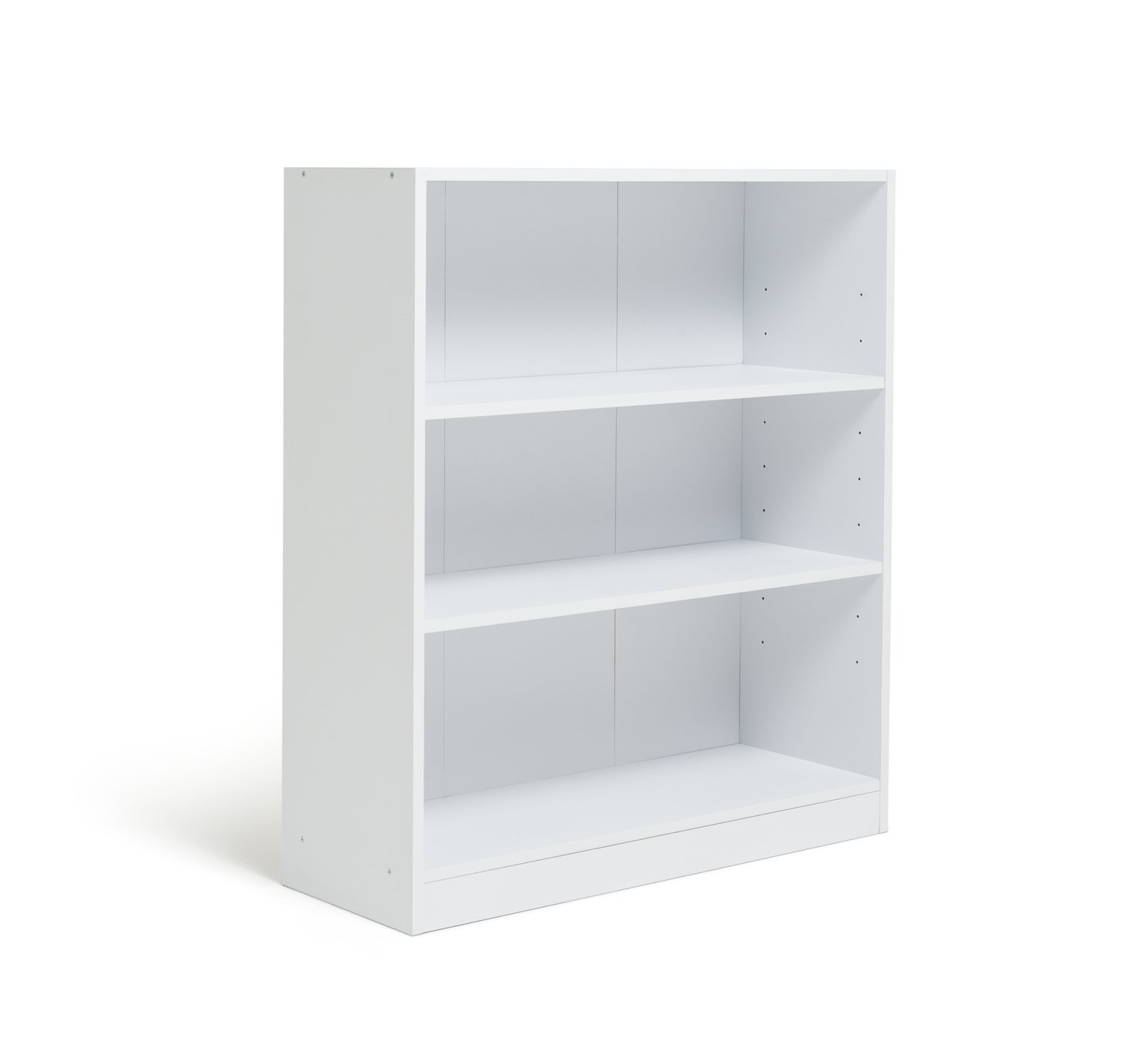 home maine 2 shelves small extra deep bookcase white