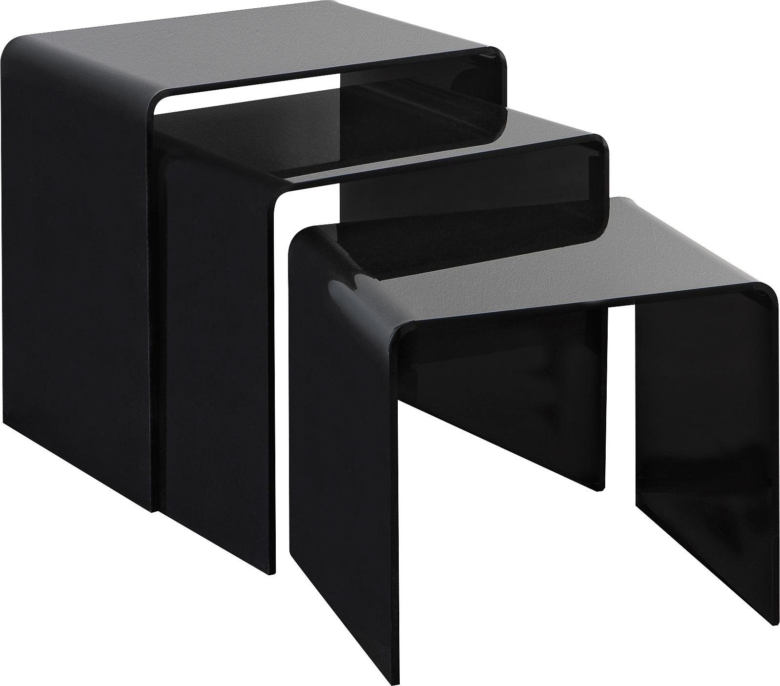 Buy Hygena Mistral Nest of 3 Tables - Black Acrylic at Argos.co.uk - Your Online Shop for Coffee