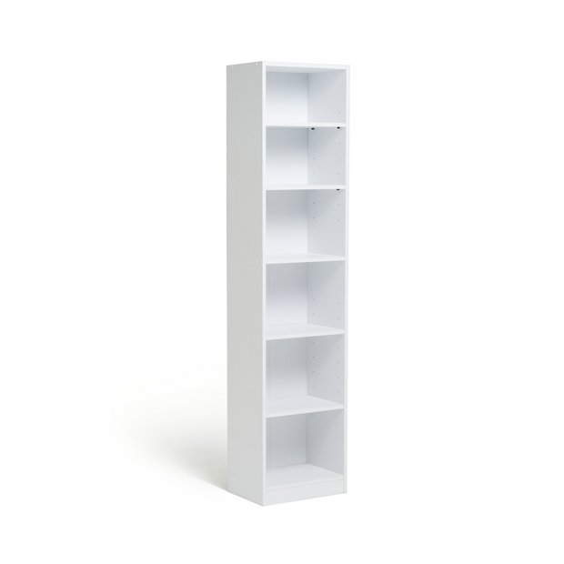 Buy home maine half width tall extra deep bookcase white How deep should a bookshelf be