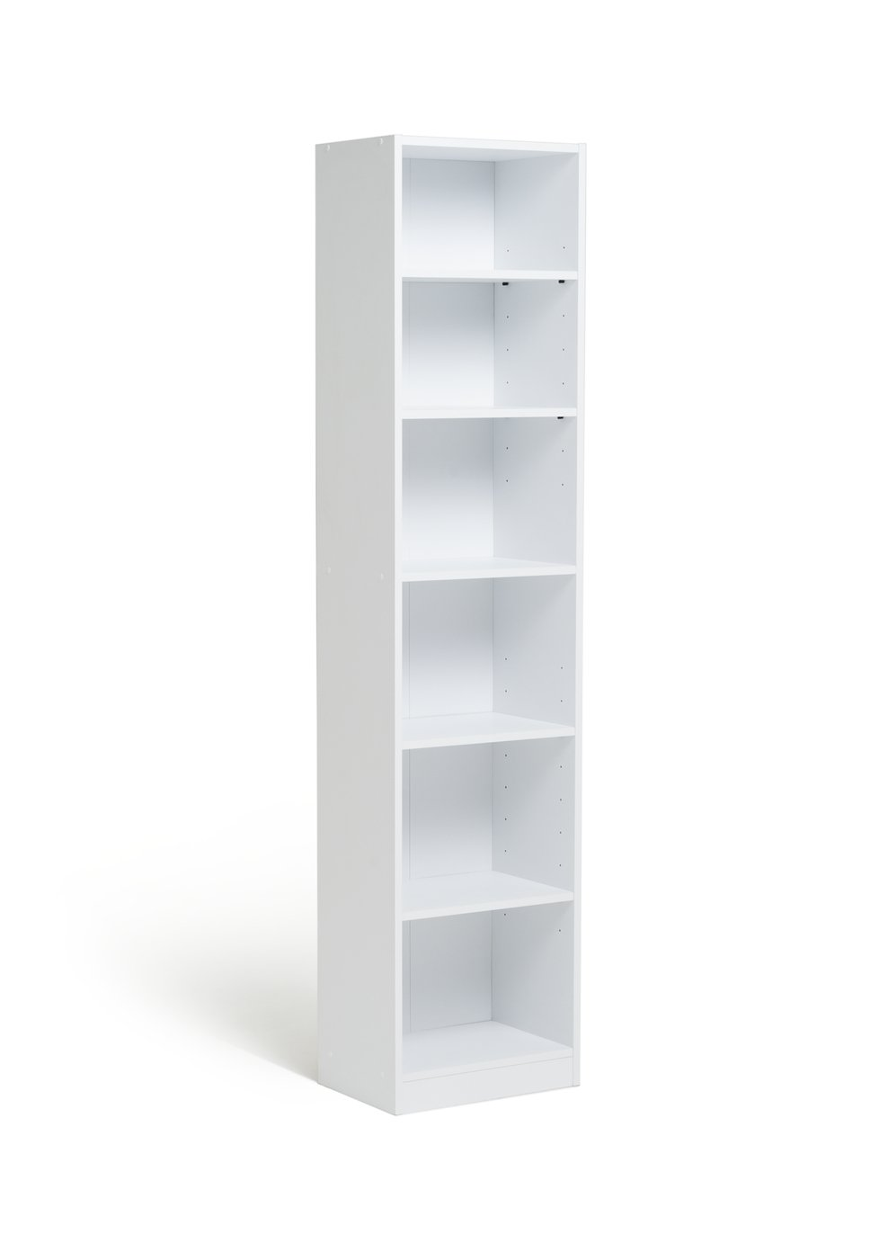 ... more details on HOME Maine Half Width Tall Extra Deep Bookcase - White.