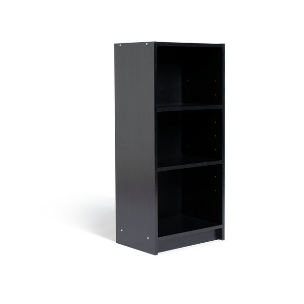 Buy home maine 2 shelf half width deep bookcase black How deep should a bookshelf be