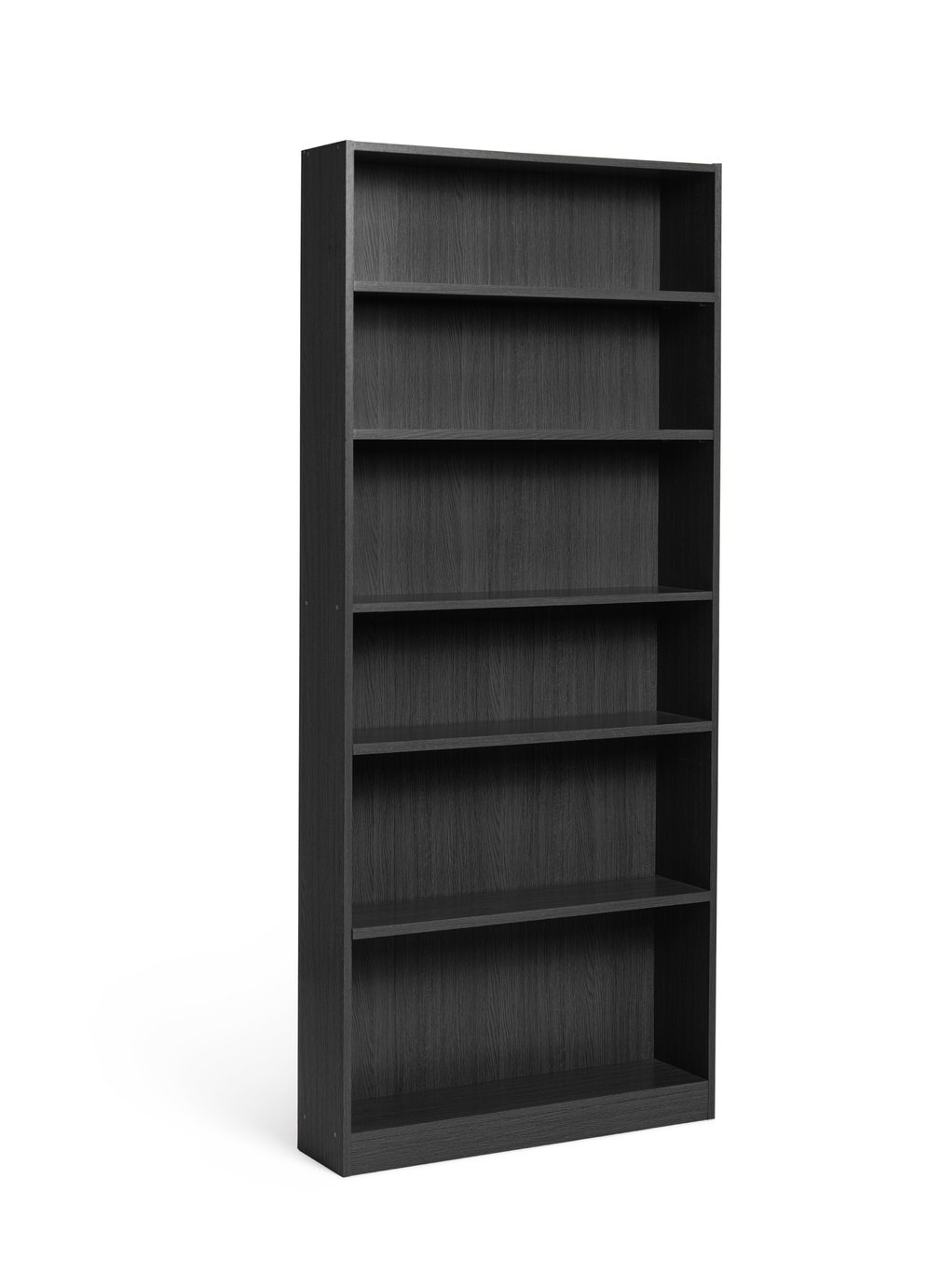 home maine 5 shelf tall wide extra deep bookcase black ash