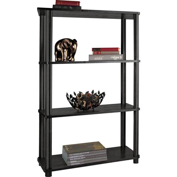 Buy Home Verona 4 Shelf Shelving Unit Black At