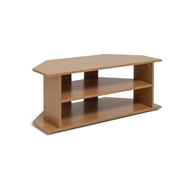 Buy Home Large Corner Tv Unit Oak Effect At