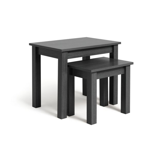 buy home nest of 2 tables black at your
