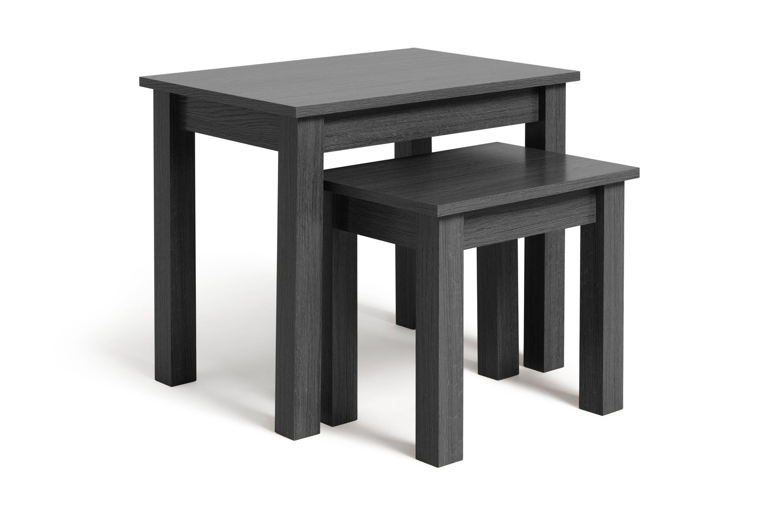 buy home nest of 2 tables black at argoscouk your online shop for coffee tables side tables and nest of tables living room furniture - Tables