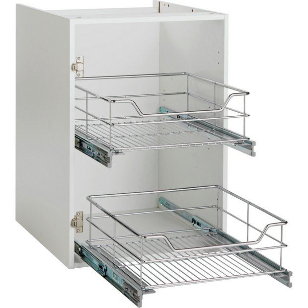 Buy spencers valencia 500mm pull out basket soft close at for Kitchen carcasses online