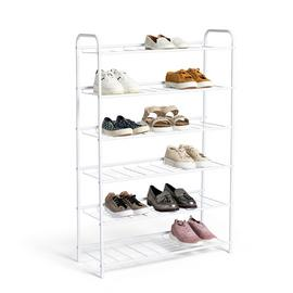 Habitat 6 Tier White Shoe Rack