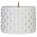 more details on Collection Ossie Laser Cut Fabric Shade - White.