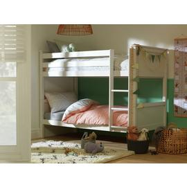 Argos Home Brooklyn White Bunk Bed & 2 Kids Mattresses