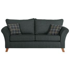 Argos Home Kayla 3 Seater Fabric Sofa - Charcoal