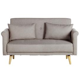Argos Home Evie 2 Seater Fabric Sofa in a Box - Natural