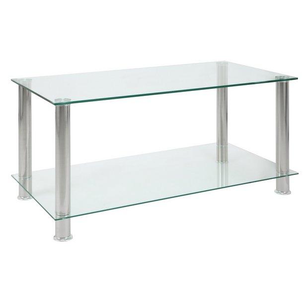 Buy Argos Home Matrix Coffee Table Clear Glass Coffee Tables Argos