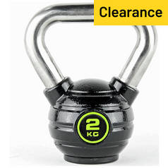 Opti Eco-Iron and Stainless Steel Kettlebell - 2kg