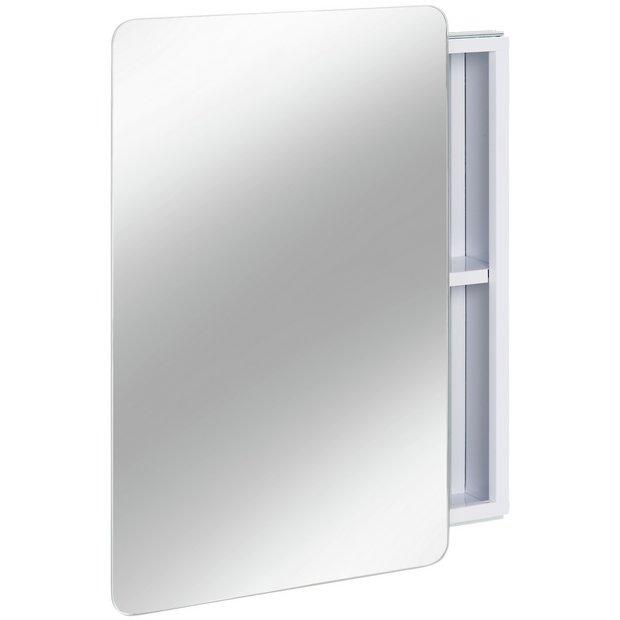 reputable site a8d3c c3db7 Buy Argos Home Sliding Door Mirrored Bathroom Cabinet - White   Bathroom  cabinets   Argos