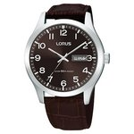more details on Lorus Men's Day Date Brown Strap Watch.