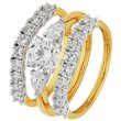 more details on 18ct Gold Plated Silver 2.5ct Look Cubic Zirconia Bridal Set