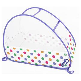 Koo-di Pop-Up Bubble Travel Cot - Pastel Polka