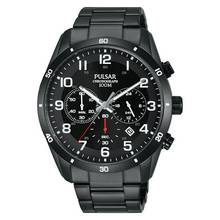 Pulsar Men's Black Ion Plated Chronograph Watch