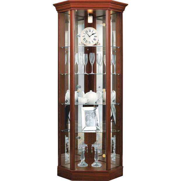 Buy HOME Single Door Corner Glass Display Cabinet