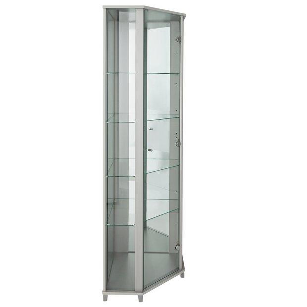 corner glass cabinet argos cabinets matttroy. Black Bedroom Furniture Sets. Home Design Ideas