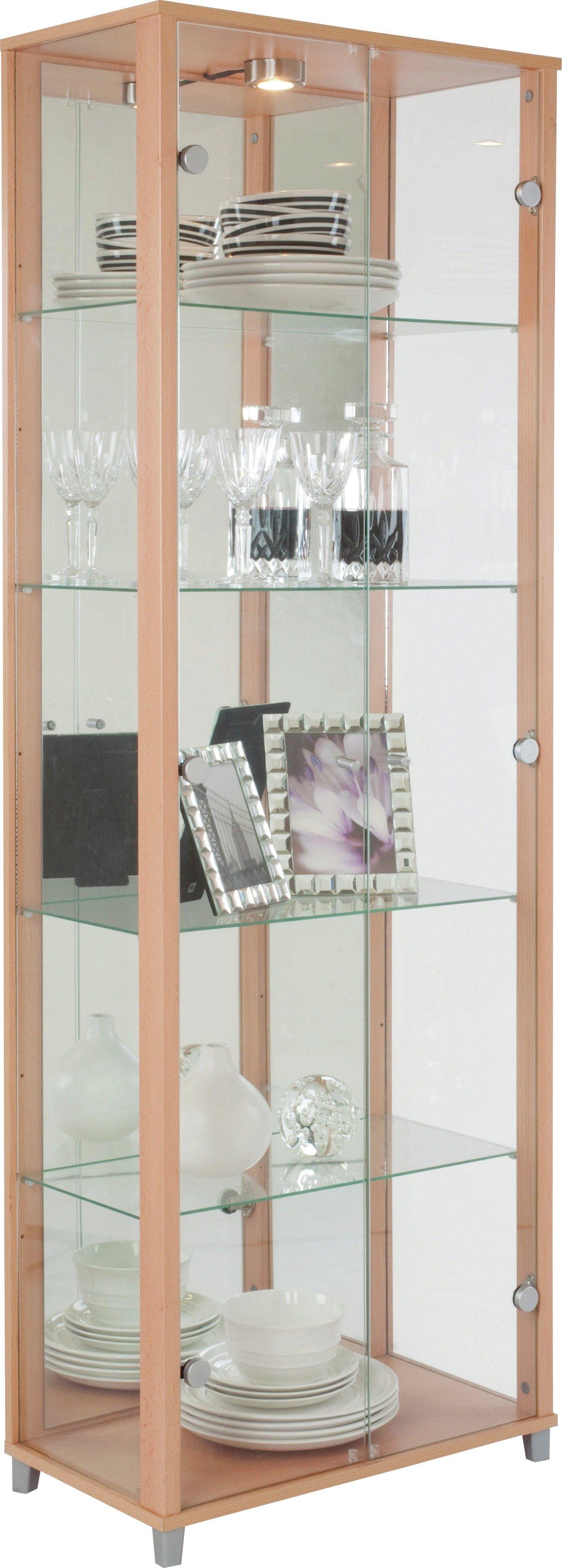 Buy Argos Home 2 Door Glass Display Cabinet   Beech Effect | Display  Cabinets | Argos
