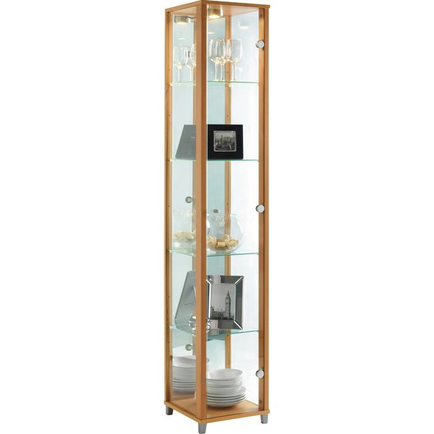 Buy HOME Single Door Glass Display Cabinet