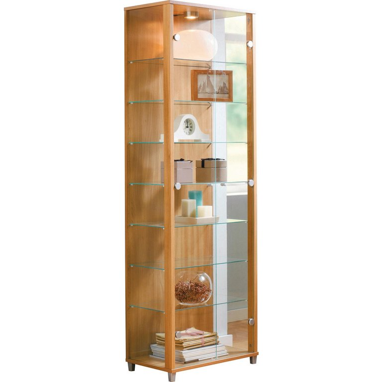 Glass Door Kitchen Cabinet Lighting: Buy HOME 2 Door Glass Display Cabinet