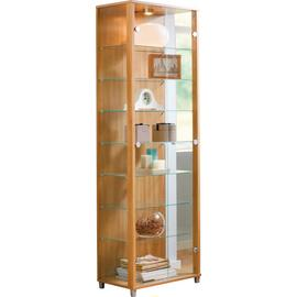 Argos Home 2 Glass Door Display Cabinet - Light Oak Effect