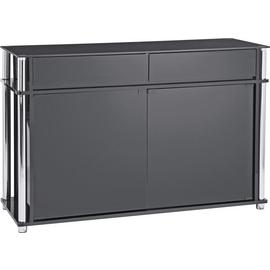 Argos Home Matrix 2 Door 2 Drawer Glass Sideboard - Black