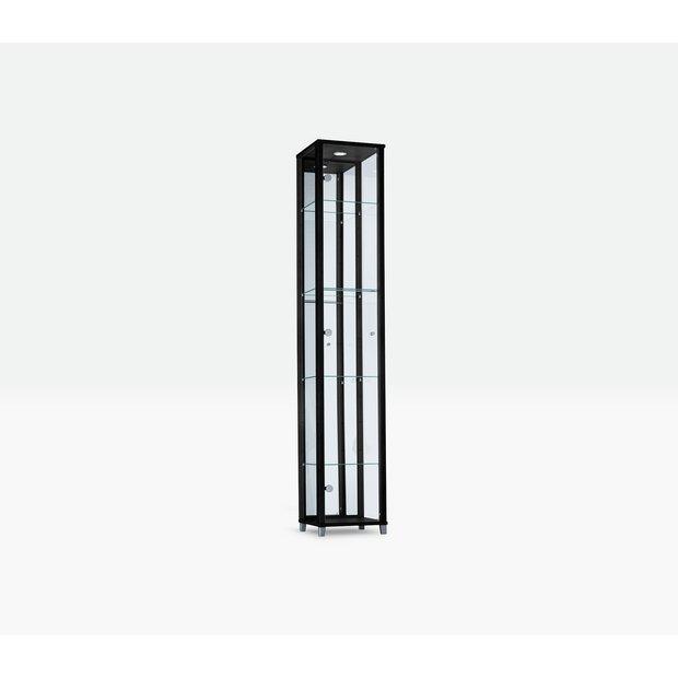buy home 1 glass door display cabinet black display. Black Bedroom Furniture Sets. Home Design Ideas