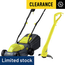 Challenge 31cm Corded Rotary Lawnmower 1000W + Trimmer 250W