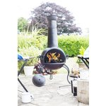 more details on La Hacienda Extra Large Steel Chiminea - Bronze Finish.