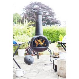 La Hacienda Extra Large Steel Chimenea - Bronze Finish
