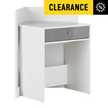 Argos Home Gloss Front Compact Corner Desk - White