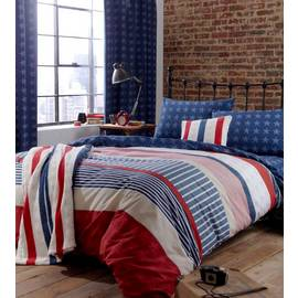 Catherine Lansfield Stars and Stripes Duvet Set - Double