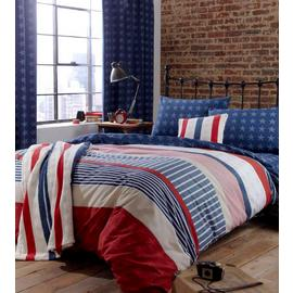 Catherine Lansfield Stars and Stripes Bedding Set - Double
