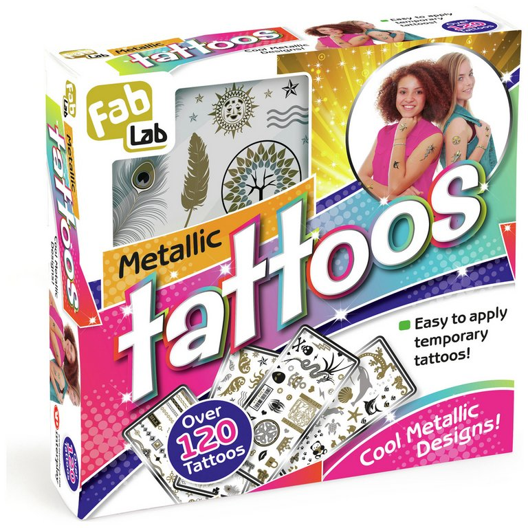 Buy Fablab Metallic Tattoos Kit Jewellery And Fashion Toys Argos