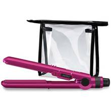 BaByliss Nano Travel Hair Straightener with Bag - Pink