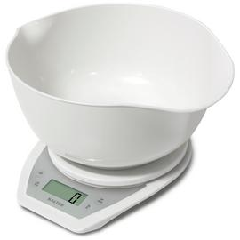 Salter Aquatronic Kitchen Scale and Bowl - White.