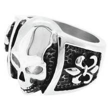 Revere Men's Stainless Steel Skull Ring
