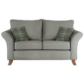 Argos Home Kayla 2 Seater Fabric Sofa - Light Grey