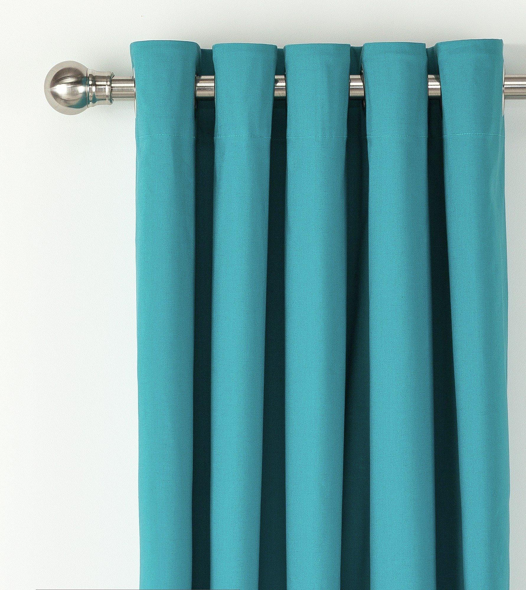 ColourMatch Blackout Eyelet Curtains   117x137cm   Teal