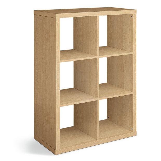 buy hygena squares plus 6 cube storage unit oak effect. Black Bedroom Furniture Sets. Home Design Ideas