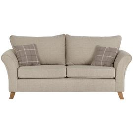 Argos Home Kayla 3 Seater Fabric Sofa - Beige