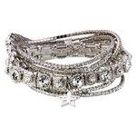 more details on Stardust Silver Colour Crystal Bracelets - Set of 7.