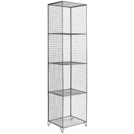 Argos Home 4 Tier Metal Tall Storage Unit - Grey