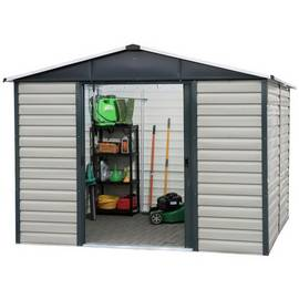 Yardmaster Extra Tall Metal Shiplap Shed - 10 x 6ft Best Price, Cheapest Prices