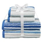 more details on HOME 4 Piece Towel Bale - Stripes.