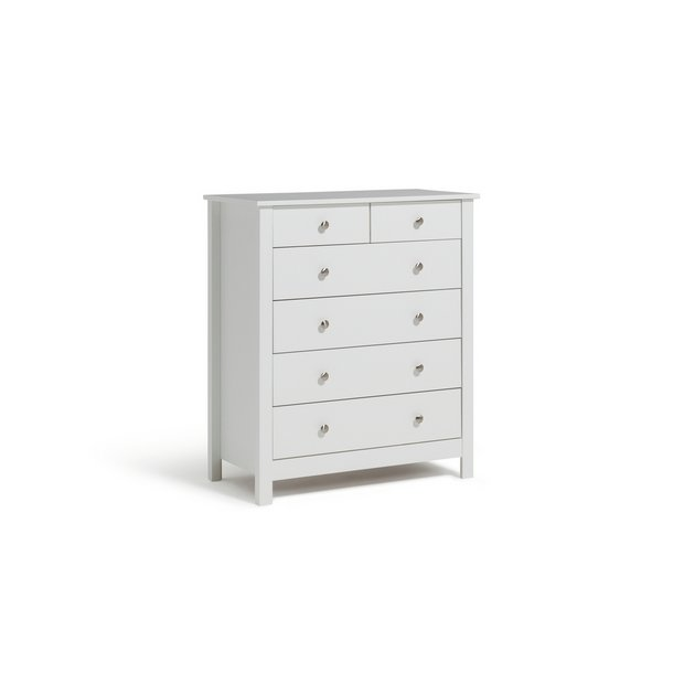 buy collection osaka 4 2 drawer chest white at. Black Bedroom Furniture Sets. Home Design Ideas